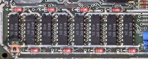 ZX Spectrum alsó 16k RAM chipek
