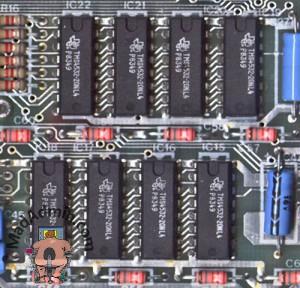 ZX Spectrum felső 32k RAM chipek