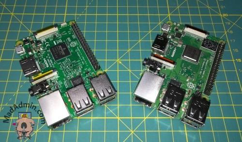 RPi 3B és RPi 3B+ egymás mellett