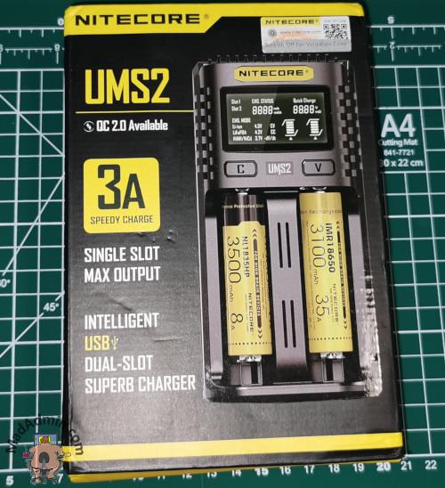 Nitecore UMS2 töltő doboza
