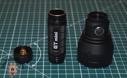 Lumintop GT mini részei
