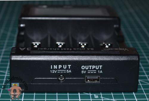 Vapcell S4 Plus tápcsatlakozó