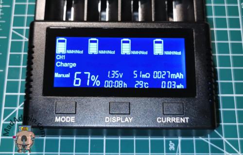 Vapcell S4 Plus képernyő