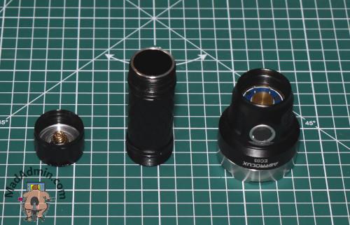 Astrolux EC03 részei