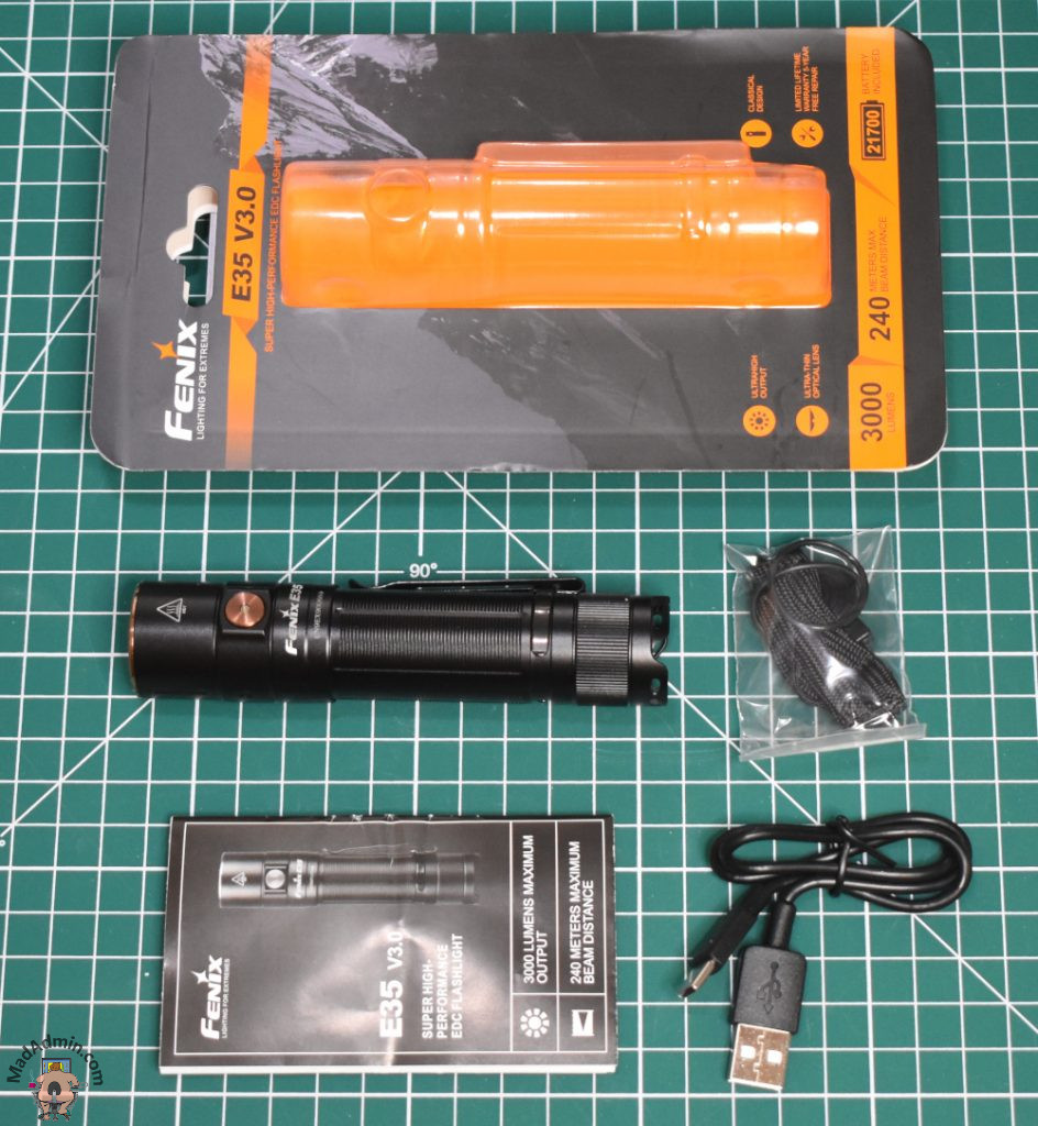 Fenix E35 v3.0 doboz